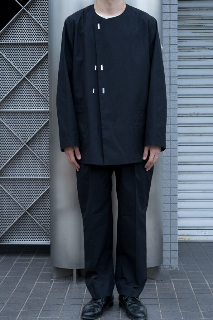 irenisa 2nd delivery NO COLLAR BLOUSON ONE TUCK TAPERED PANTS